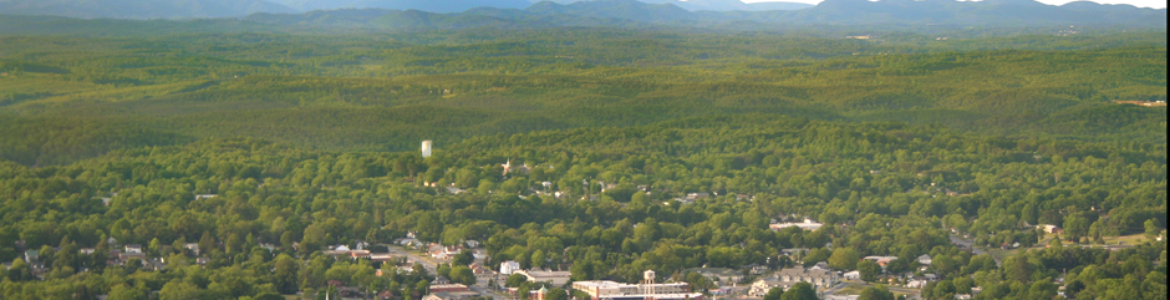 Downtown Morganton Aerial Pic
